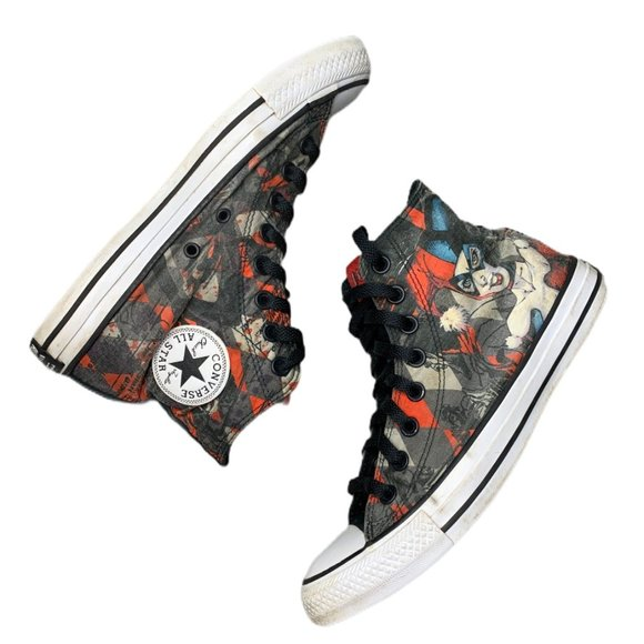 Converse Other - Converse Hi Top Sneakers Harley Quinn Mens 7